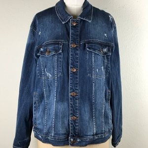 JOE'S Jeans Blue Distressed Denim Jacket Size XL